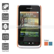 Four SIM 3.0 Inch Touch Screen Cell Phone (Dual Camera TV Quadband)