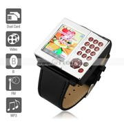 AK10 - Dual SIM 1.33 Inch Watch Cell Phone (FM MP3 MP4 Player)