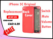 Back Cover with Switch/Mute/Volume Button iPhone 5c